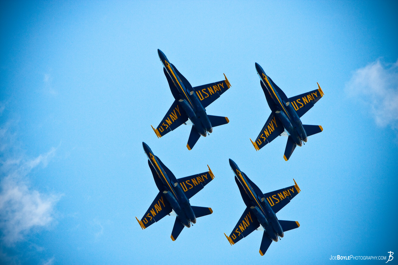 I was watching the Air Show in Cleveland Ohio and was able to capture this image! The Blue Angels!