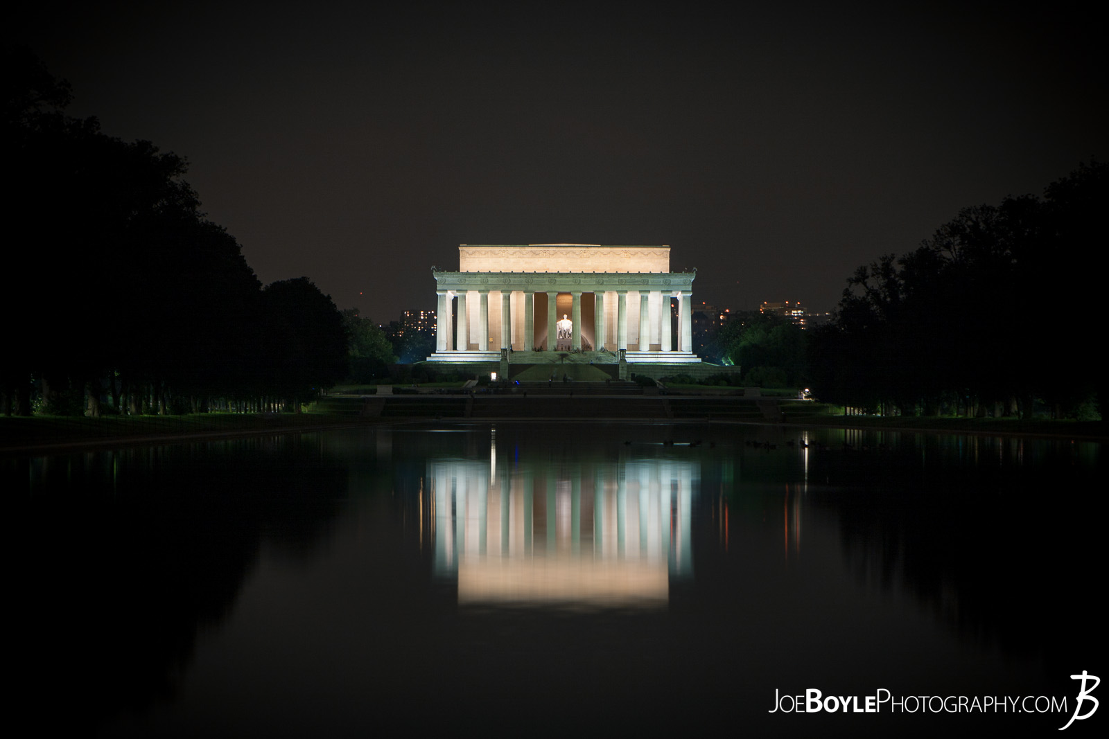 While I was in Washington, DC I was able to take some great night images of a few of the iconic landmarks that make up this city! Here is an image of the Lincoln Memorial with the reflecting pool!