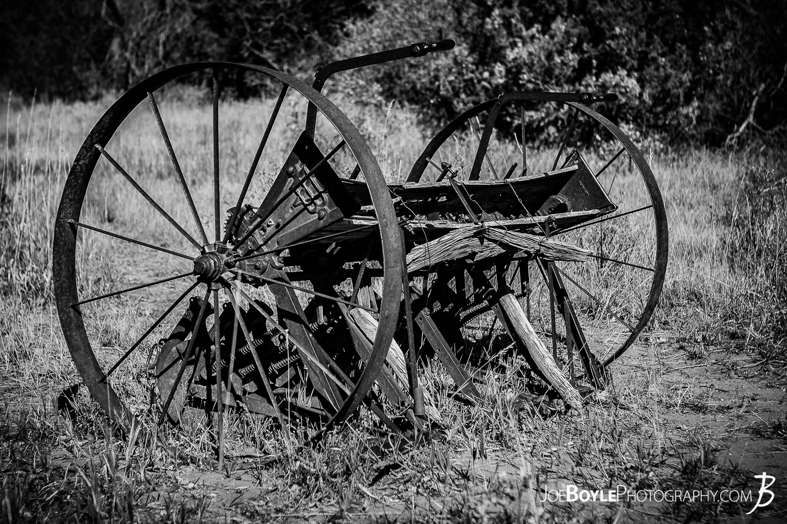 This is a black and white photo of abandoned farming equipment on the West Rim Trail in Zion National Park. This was near or on our way to the Lava Point Overlook. I thought it was so strange that this abandoned piece of farming equipment was still here. I'm not sure weather to call it a tractor, a cart, a tiller or a plow but I do wonder at it's story! Who left it behind and why? What did they farm with it and what was life like during the time of it's use? I'm imagining and hoping it was simpler life (yet probably more difficult life speaking of a labor intensive period of time). I hoping it was used in a time where people were more connected to the land and beauty around them in the every day!  Here are some links to more articles and hiking info about the West Rim Trail and hiking trails in Zion National Park and a Map of Zion National Park.