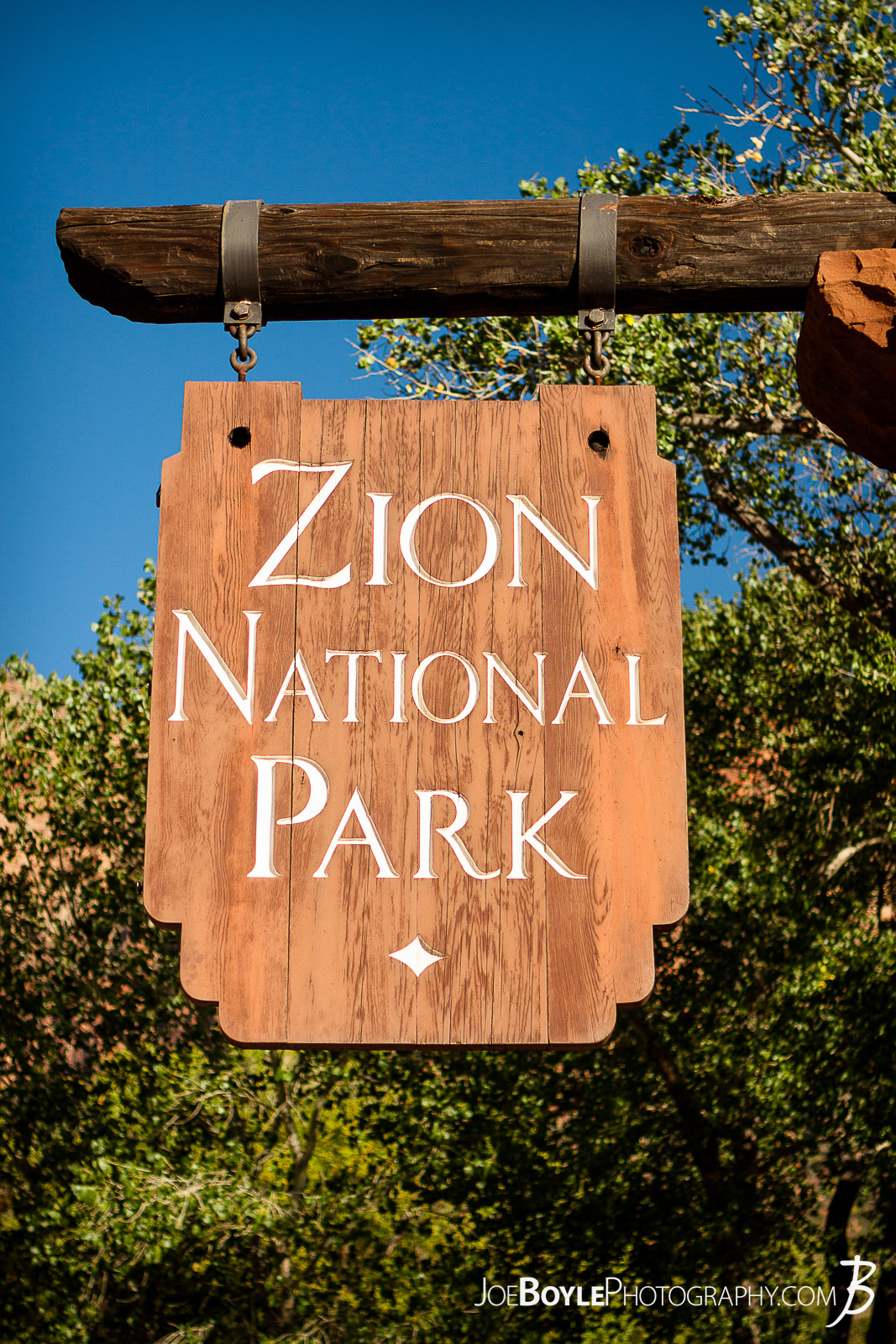 Here is a photo of the sign at the entrance of Zion National Park with a beautiful blue sky!  Here are some links to more articles and hiking info about the West Rim Trail and hiking trails in Zion National Park and a Map of Zion National Park.