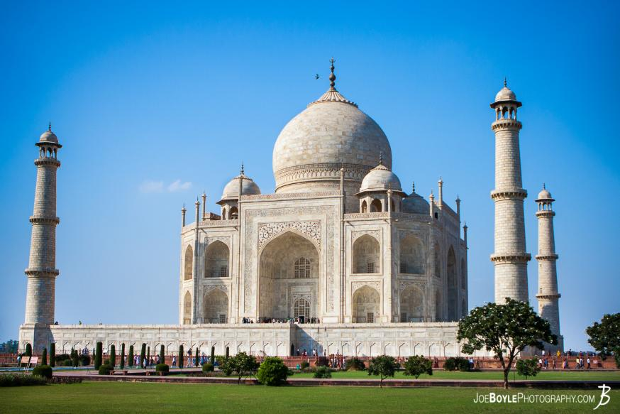 I was on tour with MegaDeth during their 2012 Countdown to Extinction tour. We had a stop over in New Dehli India and we visited the Taj Mahal!