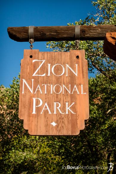 Here is a photo of the sign at the entrance of Zion National Park!