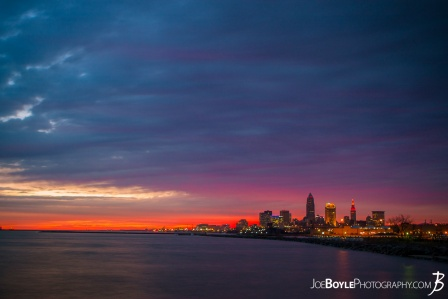 cleveland-sunrise-with-deep-beautiful-colors