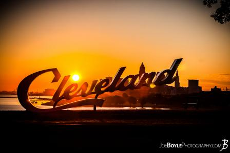 cleveland-sign-at-edgewater-park-with-sunrise-ii