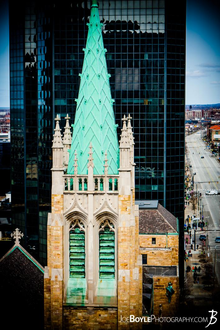church-with-green-copper-rooftop-cleveland-ohio