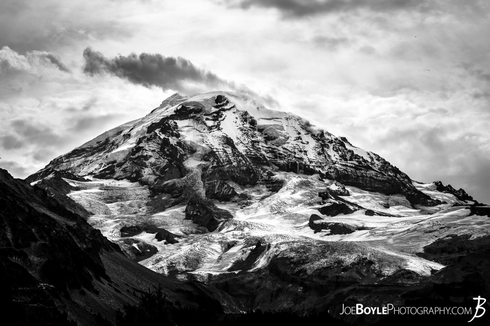 mount-rainier-from-spray-park-trail-black-white